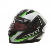 Шлем MT STINGER SPIKE (XL Gloss Metallic Black White Fluo Green)